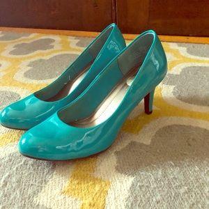 Shoes - Teal Pumps